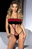 'Avanua Lingerie' Berme Red & Black Lace Body & Ribbon ( UK 8 - 20 )